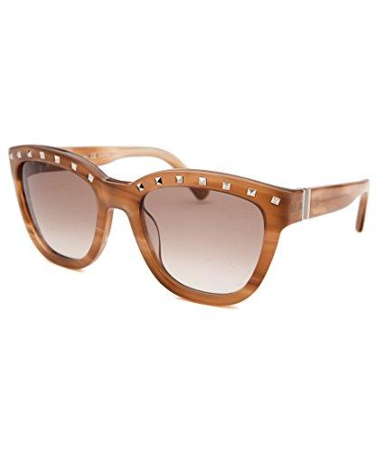 Valentino Metal Sunglasses (Sunglasses VALENTINO V 677 S 772 STRIPED HONEY)