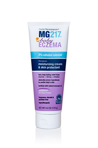 MG217 Eczema Baby Moisturizing Cream with 2% Colloidal Oatmeal and Skin Protectant, 6 Ounce - for eczema, rash and dermatitis