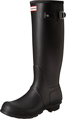 Hunter Womens Original Tall Black Matte Rain Boot