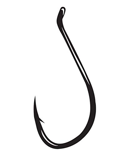 Gamakatsu 25 Pack Octopus Hook (Black, 4/0) ()