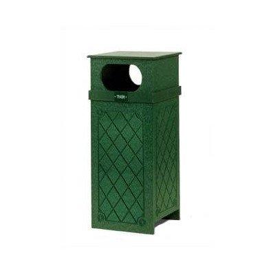 Eagle One Flat (22 Gallon Flat Top Trash Receptacle Finish: Cedar, Pattern: Diamond Pattern)