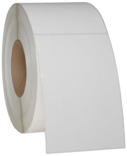 "Brady THT-25-402-1 4"" Width x 6"" Height, B-402 Paper, Matte Finish White Thermal Transfer Printable Label (1000 per Roll)"