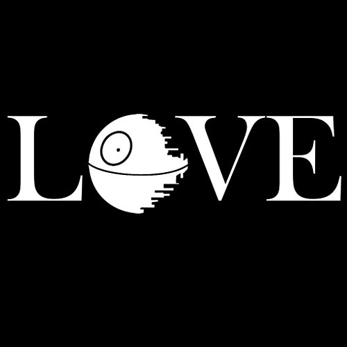 Death Star Love Star Wars Decal Vinyl Sticker|Cars Trucks Vans Walls Laptop| White |7.5 x 2.5 in|CCI1153 - Force Unleashed 2 Costumes And Lightsabers