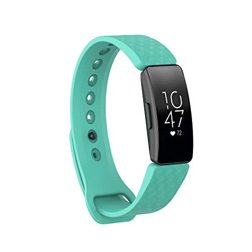 Finedayqi ❤ for Fitbit Inspire/Inspire HR Silicone Bracelet Watch Band Wristband Strap Small (Green)
