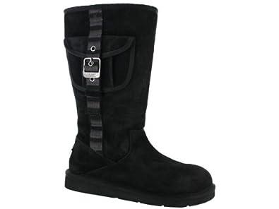UGG Australia Retro Cargo Black - Womens Sheepskin Boots (6.5uk)