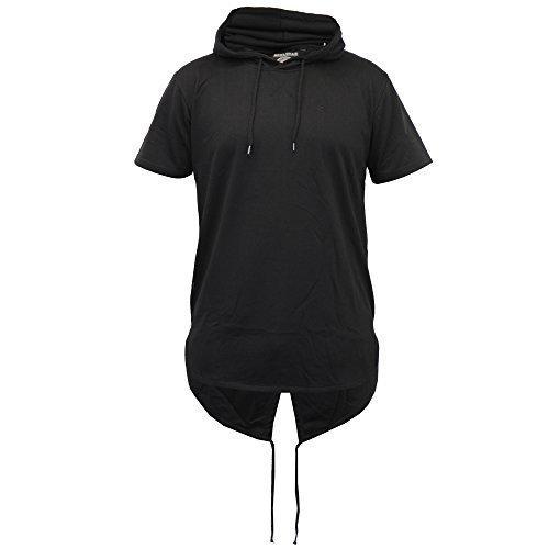 Herren Lange Linie Top Mit Kapuze Tarnmuster Militär Fischschwanz T-shirts Von Soul Star - Schwarz - HUSKYPKA, Large
