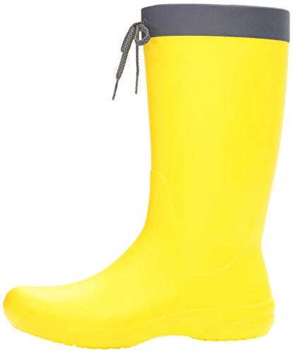 Crocs Women's Freesail Rain Boot, Lemon, 9 M US by Crocs (Image #5)