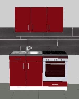 Cuisine Equipee Jolito 140 Rouge Laque Amazon Fr Cuisine Maison
