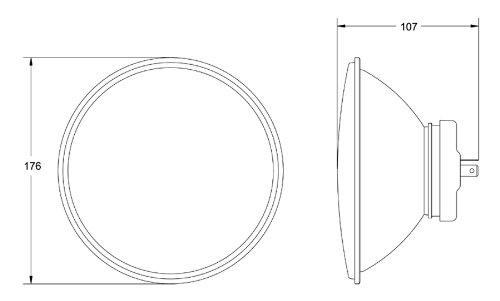 HELLA 002395801 Vision Plus 165mm 12V High/Low Beam Halogen Conversion Headlamp Kit (H4 ECE) by HELLA (Image #3)