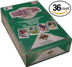 1990 Upper Deck Baseball Cards Box Of 36 Foil Packs