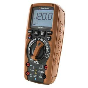 Southwire Tools & Equipment 14090T TechnicianPRO Auto-Ranging TrueRMS Digital Multimeter with MApp Mobile App