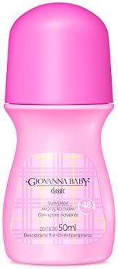 Desodorante Roll-On 50 ml Feminino Rosa, GIOVANNA BABY