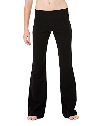 Cotton Canvas Pants - Bella + Canvas Womens Cotton/Spandex Fitness Pant (810)- BLACK,L