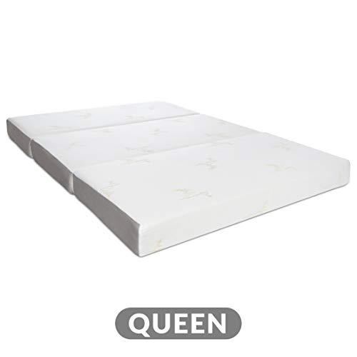 Milliard Tri Folding Memory Foam Mattress | Ultra Soft Washable Cover | Queen {78