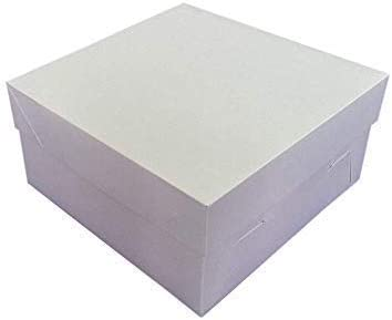 We Can Source It Ltd – Caja de cartón para tartas con tapa extraíble – para tartas de boda de cumpleaños – 100% desechable biodegradable reciclable – 8