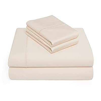 CottonWorks Exclusive 1000 Thread Count Single Ply 100% Pima Cotton 4 Piece Sheet Set