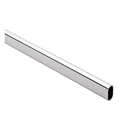 Desunia D.H.S. Oval Closet Rod - Heavy Duty - 15mm x 30mm - Polished Chrome - 96