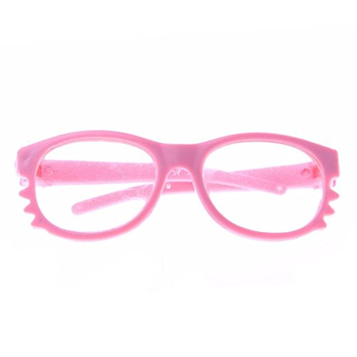Frame Sunglasses For American Doll,NOMENI Stylish Plastic Frame Sunglasses For 18 inch Our Generation American Girl Doll - Eyeglasses New Girl