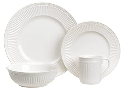 Mikasa Italian Countryside 16-Piece Dinnerware Set Service for 4  sc 1 st  Amazon.com : italian dinnerware set - Pezcame.Com