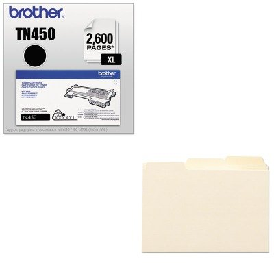 KITBRTTN450SMD57030 - Value Kit - Smead Self-Tab Card Guides (SMD57030) and Brother TN450 TN-450 High-Yield Toner (BRTTN450)
