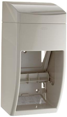 Bobrick 5288 Matrix Series Two-Roll Tissue Dispenser, 6 1/4w x 6 7/8d x 13 1/2h, Gray