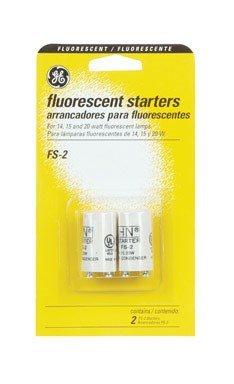 (G E LIGHTING 64818 GE FS-2-C/TP Fluorescent Starter, 2-Pack)
