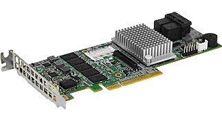 Supermicro RAID 8PORT SAS3 2GB LSI 240GB HDD 0/1/10/5/6/50/60 AOC-S3108L-H8IR by Supermicro