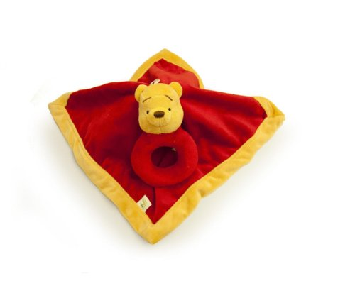 (Disney Winnie the Pooh Security Blanket & Rattle Set)