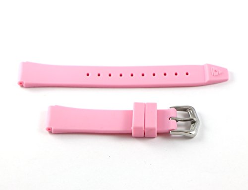 Swiss Legend 16MM Light Pink Rubber Watch Strap & Silver Stainless Buckle fits 35mm Love Connection Watch by Swiss Legend (Image #1)