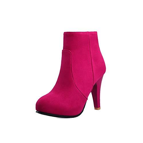 Stivali Stivali Stivali Lsm Stivaletti Rose a Alti Donna Appuntita Red con da Tacchi Punta HHqwfdr5x