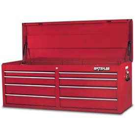 Waterloo PCH-528RD Professional Series 8-Drawer Tool Chest, Red Finish, 52'' W by Waterloo