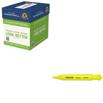 KITHAM102450UNV08861 - Value Kit - Hammermill Color Copy Digital Paper (HAM102450) and Universal Desk Highlighter (UNV08861)