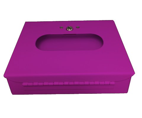 SD2012BPR-10 Sanitary Napkin & Tampon Disposal Bag Dispenser -Box Format, Purple