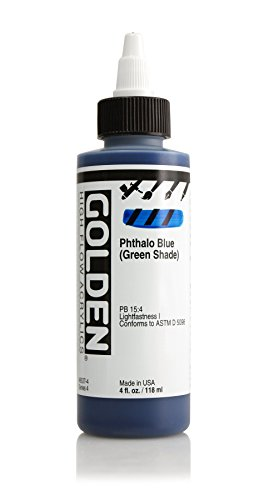 4oz. High Flow Acrylic Paint Color: Phthalo Blue