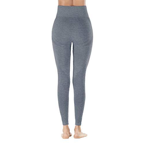 BODOAO Yoga Pants Women Hip Seamless Jacquard Point High Waist Speed Dry Pants Fitness Yoga Leggings Navy
