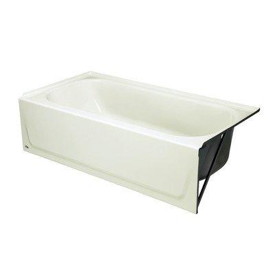 BOOTZ INDUSTRIES 011-2341-00 2477488 Maui Porcelain Enameled Bathtub with Left-Hand Drain, 5', White