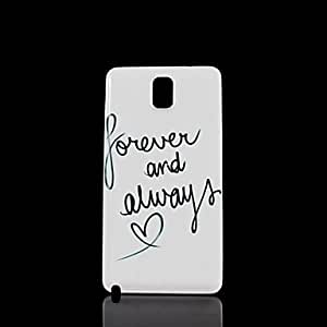 ZXC Heart Phrase Pattern Hard Case for Samsung Galaxy Note 3