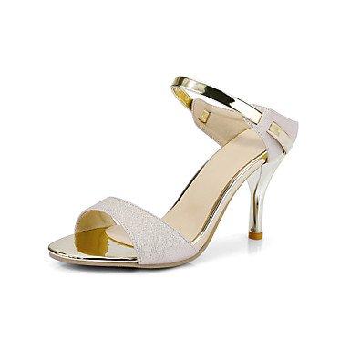 RainbowElk Sandals Spring Summer Fall Club Shoes PU Wedding Office & Career Dress Stiletto Heel Split Joint Pink White Beige , beige , us10.5 / eu42 / uk8.5 / - Carvela Shop