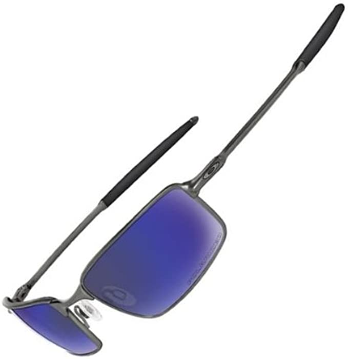 714a4fff9d6 Oakley Square Wire Polarized Fishing Sunglasses Pewter  Shallow Blue 12-754