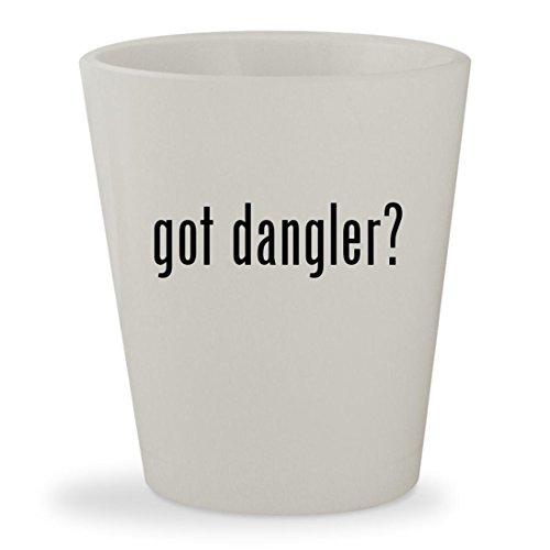 got dangler? - White Ceramic 1.5oz Shot Glass Casino Danglers