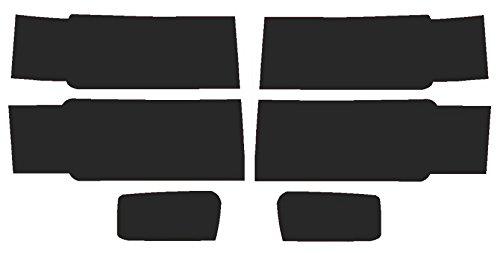 Precut Vinyl Tint Cover for 2014-2015 Chevrolet Silverado Headlights (20% Dark Smoke)
