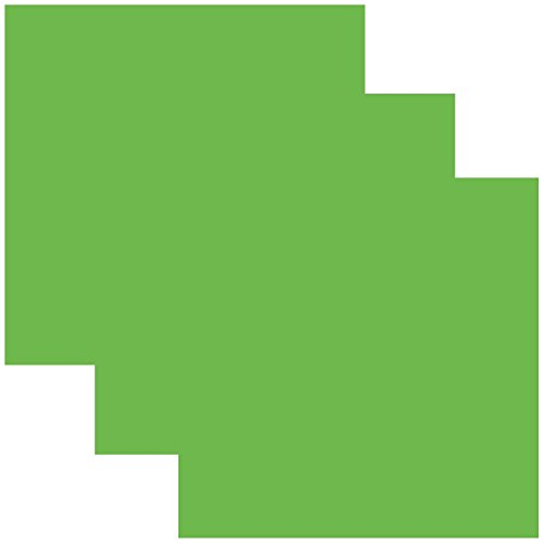 SISER EasyWeed Heat Transfer Vinyl HTV for T-Shirts 12 x 12 Inches 3 Precut Sheets (Apple Green)