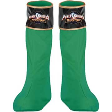 Power Ranger Green Boot Covers Costume Accessory (Boot Ranger Red Covers)