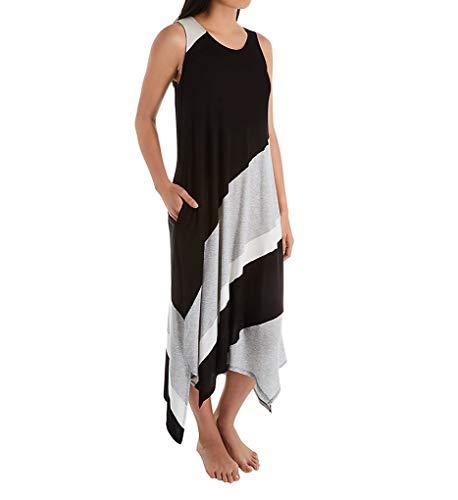 Donna Karan Sleepwear Graphic Long Gown (D316959) XL/Black Print