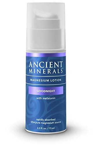 - Ancient Minerals Goodnight Magnesium Lotion with Melatonin and OptiMSM - Night Cream of Topical Nighttime Moisturizing Lotion formulated for Bedtime Absorption (2.5oz)
