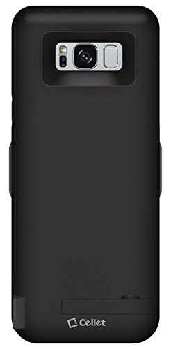 Cellet 6500mAh Rechargeable External Power Case for Samsung Galaxy S8 Plus with Dual Charge Compatibility Extra USB Port to charge a second device Iphone7, samsung galaxy S7, Nokia8, Google Pixel