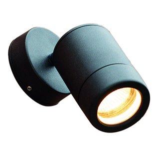 Wall Mounted Spot Lamps : Wall Mounted Spot Light: 35W, Mains, GU10, Adjustable, Internal / External, Black, IP65: Amazon ...