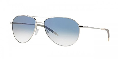 Oliver Peoples Benedict 59mm (Silver, Chrome Sapphire Photochromic - Peoples Oliver Sunglasses