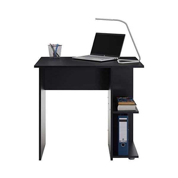 IDIMEX Bureau pour Enfant ou Adulte Nova, Bureau Informatique Table d'ordinateur avec Rangement Ouvert 2 tablettes…