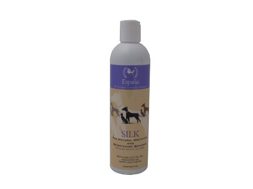 Image of Espana Silk ESP0315DC Specially Formulated Silk Pro Whitening and Brightening Shampoo for Dogs and Cats, 16.91-Ounce